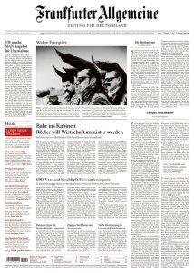 Giornale Tedesco. Frankfurter Allgemeine Zeitung